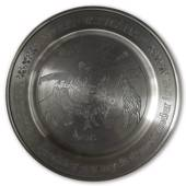 Scandia Tin Pewter April plate