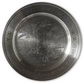 Scandia Tin Pewter June plate