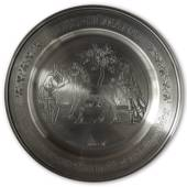 Scandia Tin Pewter July plate