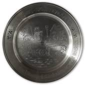 Scandia Tin Pewter August plate