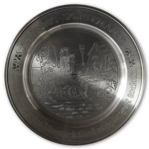 Scandia Tin Pewter August plate | No. KB08 | DPH Trading