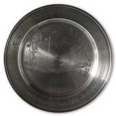 Scandia Tin Pewter September plate