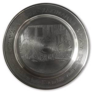 Scandia Tin Pewter October plate | No. KB10 | DPH Trading