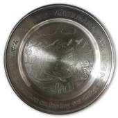 Scandia Tin Pewter November plate