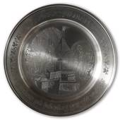 Scandia Tin Pewter December plate