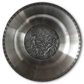 Karlshamn Biblical Motifs Pewter Plate 1 Nativity Jesus Christ