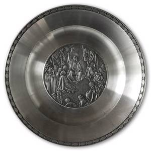 Karlshamn Biblical Motifs Pewter Plate 4 Sermon on the Mount | No. KBM04 | DPH Trading