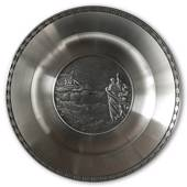 Karlshamn Biblical Motifs Pewter Plate 6 Jesus Walks on Water