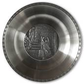 Karlshamn Biblical Motifs Pewter Plate 9 The Angel in the Empty Tomb