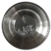 Karlshamn Biblical Motifs Pewter Plate 10 Ascension of Jesus