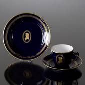 Composer Coffee set, Beethoven, Cup, saucer and cake plate no. 1, Bing & Gr...