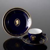Composer Coffee set, Bach, Cup, saucer and cake plate no. 2,  Bing & Gronda...