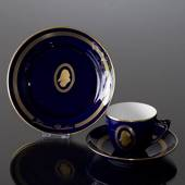 Composer Coffee set, Brahms, Cup, saucer and cake plate no. 3,  Bing & Gron...