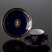 Composer Coffee set, Chopin, Cup, saucer and cake plate no. 4, Bing & Grond...