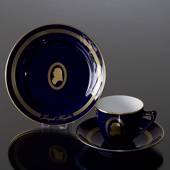 Composer Coffee set, Haydn, Cup, saucer and cake plate no. 5,  Bing & Grond...