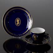 Composer Coffee set, Grieg, Cup, saucer and cake plate no. 6, Bing & Gronda...