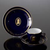 Composer Coffee set, Mozart Cup, saucer and cake plate no. 7, Bing & Gronda...