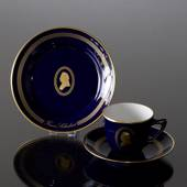 Composer Coffee set, Schubert, Cup, saucer and cake plate no. 8, Bing & Gro...