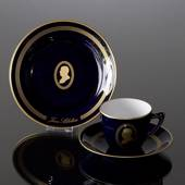 Composer Coffee set, Sibelius, Cup, saucer and cake plate no. 10 , Bing & G...