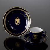 Composer Coffee set, Carl Nielsen, Cup, saucer and cake plate no. 11, Bing ...