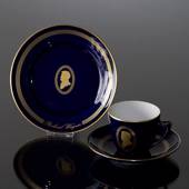 Composer Coffee set, Wagner, Cup, saucer and cake plate no. 12, Bing & Gron...