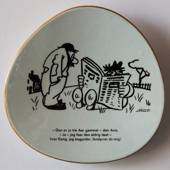 Storm P. plate Danish Cartoon Plate