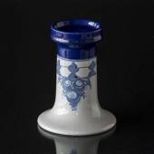 Wiinblad candlestick, Large, hand painted, blue/white No. 79