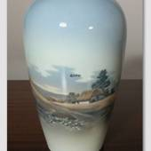 "Vase with Landscape ""House"""