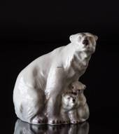 Polar Bear with Cubs Lyngby figurine