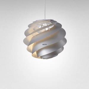 Le Klint 1313S Swirl 3 pendant made of plastic, silver, small | No. LK-1313S-S-PL | Alt. 1313SSG | DPH Trading