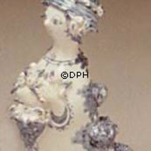 Wiinblad Figurine, hand painted, blue/white | No. M-19 | DPH Trading