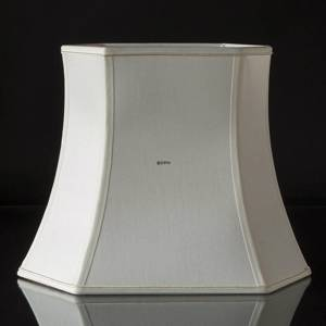 Narrow hexagonal lampshade height 35 cm, white silk | No. M353145A0671R | DPH Trading