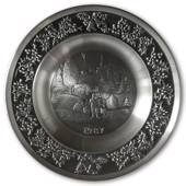 1987 Måstad Pewter Christmas plate, Mountain homestead