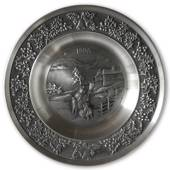1999 Måstad Pewter Christmas plate, Snow Man