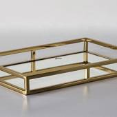 Rectangular Tray Gilded with Mirror, Large