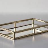 Rectangular Tray Gilded with Mirror, Small