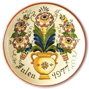 1977 Nittsjö Swedish Christmas plate | Year 1977 | No. NIX1977 | DPH Trading