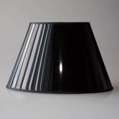 Oval lampshade height 20 cm, black laquer