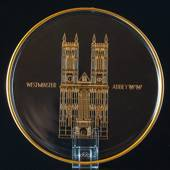 1971 Orrefors annual glass plate, Westminster Abbey