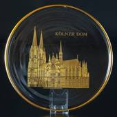 1973 Orrefors annual glass plate, Kolner Cathedral
