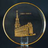 1976 Orrefors annual glass plate, Christ Church