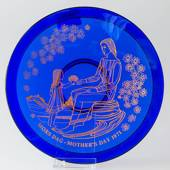 1971 Orrefors Morther's day glass plate