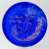 1977 Orrefors Morther's day glass plate