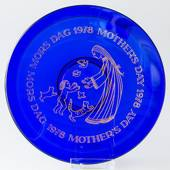 1978 Orrefors Morther's day glass plate