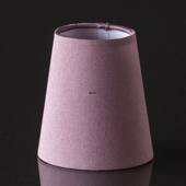 Round cylindrical lampshade height 11 cm, purple/dark rose coloured silk fa...