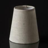 Round cylindrical lampshade height 11 cm, beige flax fabric