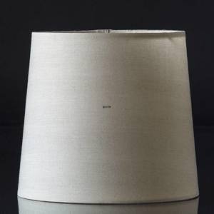 Round cylindrical lampshade height 15 cm, beige chintz fabric