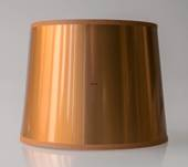 Round cylindrical lampshade 15 cm, cupper laquer