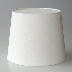Round cylindrical lampshade height 19 cm, white flax fabric | No. P191922A1000R | DPH Trading