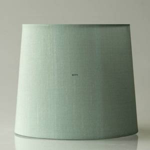 Round cylindrical lampshade height 20 cm, light petrol (green) coloured sil...